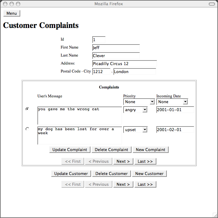 74 Implementing the forms – Customer Complaint Form Examples